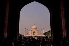 2 de noviembre de 2014: Entrada de la arcada a Taj Mahal en Agra, adentro Fotos de archivo