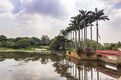 10 de noviembre de 2014: Jardines botánicos de Bangalore, la India Foto de archivo libre de regalías