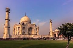2 de noviembre de 2014: Jardines de Taj Mahal en Agra, la India Imagen de archivo