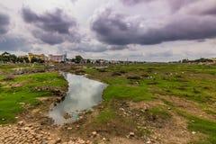 13 de noviembre de 2014: Paisaje alrededor de Madurai, la India Imagen de archivo