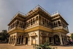 3 de noviembre de 2014: Palacio real de Jaipur, la India Foto de archivo