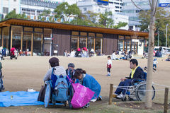 2015 - 11 de noviembre, parque de Tennoji en otoño Fotografía de archivo libre de regalías