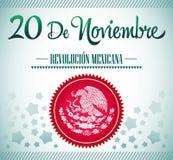 20 de Noviembre, Revolucion Mexicana - Rev mexicano ilustração stock