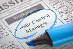 De nu Hurende Manager van de Kredietcontrole 3d Royalty-vrije Stock Afbeeldingen