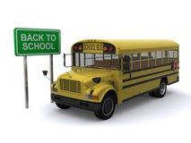 De nuevo al autobús escolar Imágenes de archivo libres de regalías