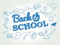 De nuevo al cartel de la escuela Foto de archivo libre de regalías