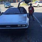 De nuevo al coche futuro foto de archivo libre de regalías