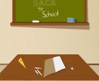 De nuevo al dibujo de la escuela Fotografía de archivo