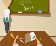 De nuevo al dibujo de la escuela Imagen de archivo libre de regalías