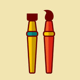 De nuevo al ejemplo del vector del icono de la escuela Imagen de archivo