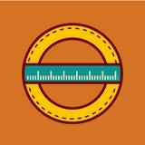 De nuevo al ejemplo del vector del icono de la escuela Imagen de archivo libre de regalías