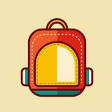 De nuevo al ejemplo del vector del icono de la escuela Fotos de archivo