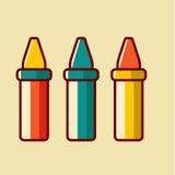 De nuevo al ejemplo del vector del icono de la escuela Imágenes de archivo libres de regalías