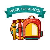 De nuevo al ejemplo del vector del icono de la escuela Fotografía de archivo libre de regalías