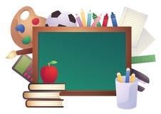 De nuevo al fondo de la escuela (EPS+JPG) stock de ilustración