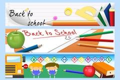 De nuevo a banderas de escuela Imagenes de archivo