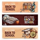 De nuevo a banderas de escuela libre illustration