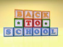 De nuevo a bloques de la escuela Foto de archivo libre de regalías