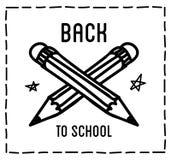 De nuevo a citas tipográficas del diseño de la escuela Imágenes de archivo libres de regalías