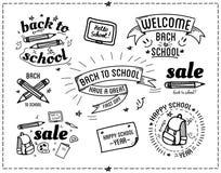 De nuevo a citas tipográficas del diseño de la escuela Foto de archivo