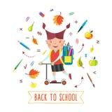 De nuevo a color de la escuela libre illustration