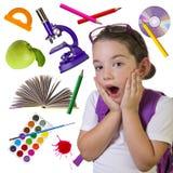 De nuevo a concepto de la escuela Imagen de archivo libre de regalías