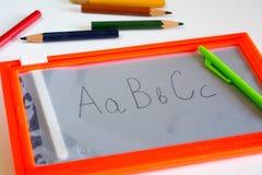 De nuevo a concepto de la escuela. Imagen de archivo libre de regalías