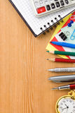 De nuevo a concepto de la escuela y al cuaderno controlado Imagen de archivo