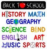 De nuevo a conjunto del clip de la escuela Fotografía de archivo libre de regalías