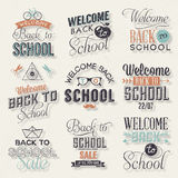 De nuevo a diseño caligráfico de la escuela Fotografía de archivo