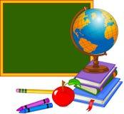 De nuevo a diseño de la escuela stock de ilustración