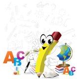 De nuevo a diseño de la escuela libre illustration
