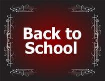 De nuevo a diseños caligráficos de la escuela, elementos styles retros, ornamentos del vintage Fotografía de archivo libre de regalías