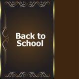 De nuevo a diseños caligráficos de la escuela, a elementos styles, a tipográfico retros y educación Fotografía de archivo