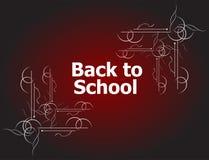 De nuevo a diseños caligráficos de la escuela, a elementos styles, a tipográfico retros y educación Fotos de archivo