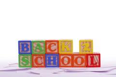 De nuevo a escuela Imagen de archivo