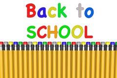 De nuevo a escuela con los lápices fotos de archivo