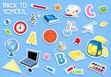 De nuevo a escuela - es hora para aprender stock de ilustración