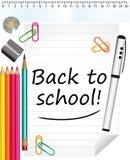 ¡De nuevo a escuela! Fondo Fotografía de archivo