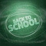 De nuevo a escuela Iconos de la escuela en una pizarra Illustrati del vector Foto de archivo libre de regalías