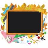 De nuevo a escuela. Imagen con el espacio libre para el texto Imágenes de archivo libres de regalías