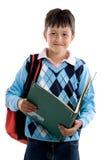 De nuevo a escuela. Muchacho hermoso del estudiante imágenes de archivo libres de regalías