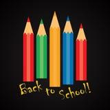 ¡De nuevo a escuela! - plantilla divertida de la inscripción Fotografía de archivo libre de regalías