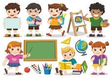 De nuevo a escuela Sistema del estudio adorable del estudiante en escuela aislante