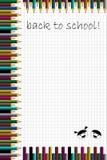 De nuevo a fondo de la escuela stock de ilustración