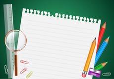 De nuevo a fondo de la escuela con los artículos de la escuela libre illustration