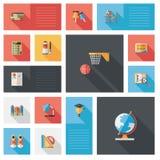 De nuevo a fondo plano del ui de la escuela, eps10 Imágenes de archivo libres de regalías