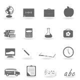 De nuevo a iconos de la escuela Fotos de archivo libres de regalías