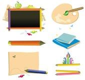 De nuevo a la escuela - conjunto del icono. stock de ilustración