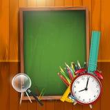 De nuevo a la escuela - fondo del vector Foto de archivo libre de regalías
